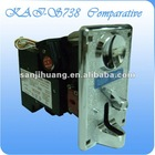 Compared coin acceptor
