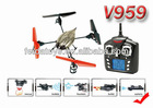 Christmas gift wl v959 quadcopter with camera, 2.4G 4ch rc camera quad copter
