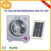 10inch multifunction rechargeable emergency solar fan with led light radio solar panel and radio