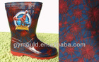Spider man Children PVC Rain Boots Lining socks Printed shoes materials lining