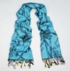 Jacquard leopard and chain blue tippet for women/Fashion accessories