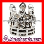 Wholesale Fashion Design Metal Crown Bead Charm Large Hole For Jewelry Making