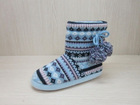 WOMENS ACRYLIC INDOOR BOOT HOUSE BOOT BOOT SLIPPER POMPOM BOOTS