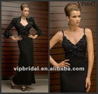 2012 black chiffon mother of the bride lace dresses