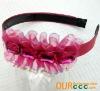 Fashion lace diamond girl headband - hotpink