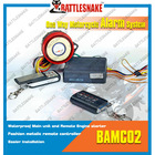 Motorcycle alarm system with engine start function and waterproof main unit