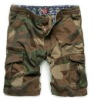 Cotton mens military shorts designer