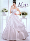 Afers satin fabric wedding dress, ivory and red color bridal dress NO.KS083