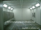 wet wash booth, dry-type spray booth, spraying painting platform, wet wash curtain booth