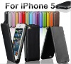 15 Colours Available Flip real Leather Case For Apple Iphone 5