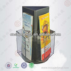 rotating acrylic brochure holder with 3 sides holder