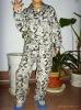 100% cotton printed flannel pajamas