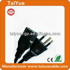 Best Price Brazil Type 3 Pin Power Cord