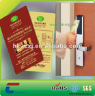 Hotel ic key card with mf 1 s50 s70 f08 chip
