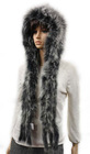 2012 women fashionable genuine fox Fur cap matching with scarf