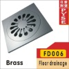 FD006 brass drain hole cover, drain cover,drainer, floor drainer, floor trap,drain trap,drain cover
