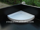 floor shower base ,with feet and European drain system. 13-17cm high,
