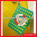 Hot selling soft pvc notebook keychain cartoon keychain