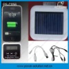 1200mAh Iphone Portable mini solar mobile charger with FM Radio