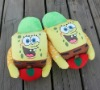 28cm soft cartoon sponge bob plush slippers