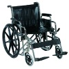 Heavy duty steel wheelchair