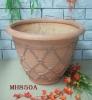 22.44 inches outdoor fiberglass flower planter