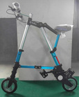 """6"""" PU tyre 8"""" tyre folding A-Bike aluminum alloy 6061 T6 heat treatment with 90psi pressure in 24km/h"""