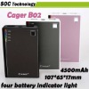 Super Hot Portable Cager B02 power charger for iphone ipad tablet pc smartphone various digital device mobile power bank