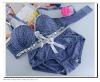 OEM Japan And South Korea Fashion printed underwear lace intimates bra set