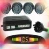 Car Reverse Rear Radar System 4 Gray Wire Parking Sensor With LED Display BiBi Buzzer Kit