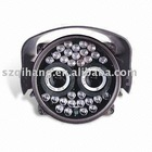 Two lens weatherproof day & night ccd camera with 28LEDs