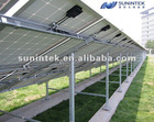 Outdoor ground solar racking system