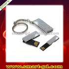 USB mini shaped , white color with key chain , thinnest TF chipset,best gifts