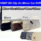 2012 Newest 1080P HD 2.7'' Clip On Rear View Mirror Car DVR,support auto shut off while recording