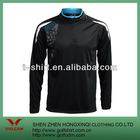 100 polyester black long sleeves golf polo shirt