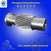 Hollow gear shaft for transmission