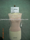 New design cream-coloured spaghetti strap evening dress KP4-603