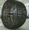 Forged and casting tire protection chain for loader