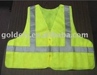 reflective safety vest,100% polyester,120gsm,EN471 class 2, with width 2""