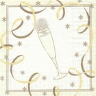 champagne design printed paper napkin for party,33cm,3ply