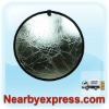 "24"" 60cm Silver/White 2 in 1 Collapsible Disc Camera Reflector"