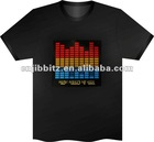 Sound Activated Light Up And Down DJ Disco Dancing LED EL T-Shirt