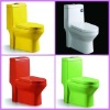 colorful siphonic washdown ceramic one piece toilet