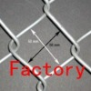 hot-dipped galvanized chain link fence(factory)