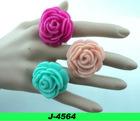 fashion rose resin ring, cheap flower ring, cute flower ring