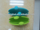 New arrival hot sale cute style silicone coin purse ring bag key wallet