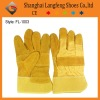 Cow split safety glove leather