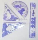 plastic student ruler set(4pcs)