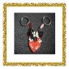Metal couple keychain