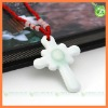 2012 white porcelain unique cross pendant necklace